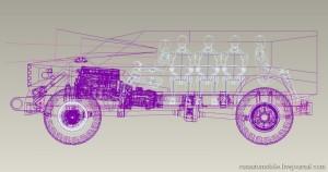 Спецавтомобиль ЗИЛ схема
