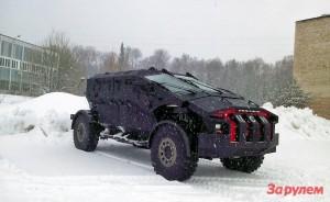 Машина 2011-го года, созданная по дизайну Святослава Саакяна не имела подъёмных дверей и базировалась на шасси раллийного Камаза.