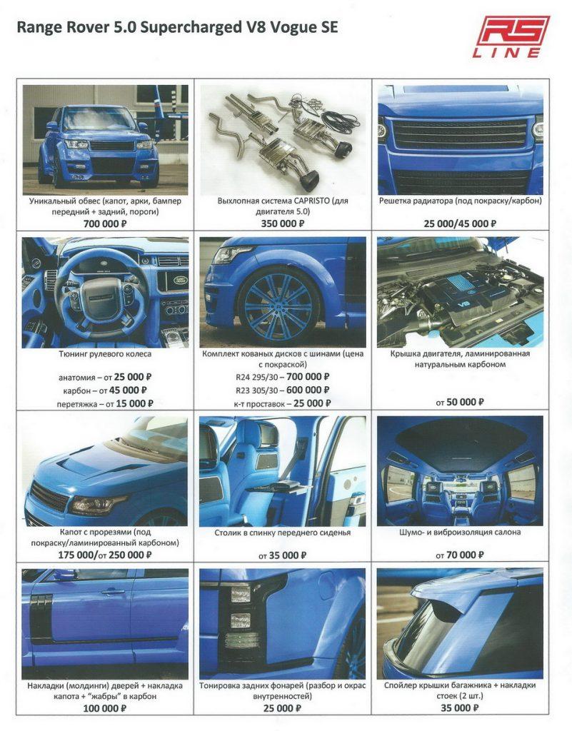 Range Rover list 1
