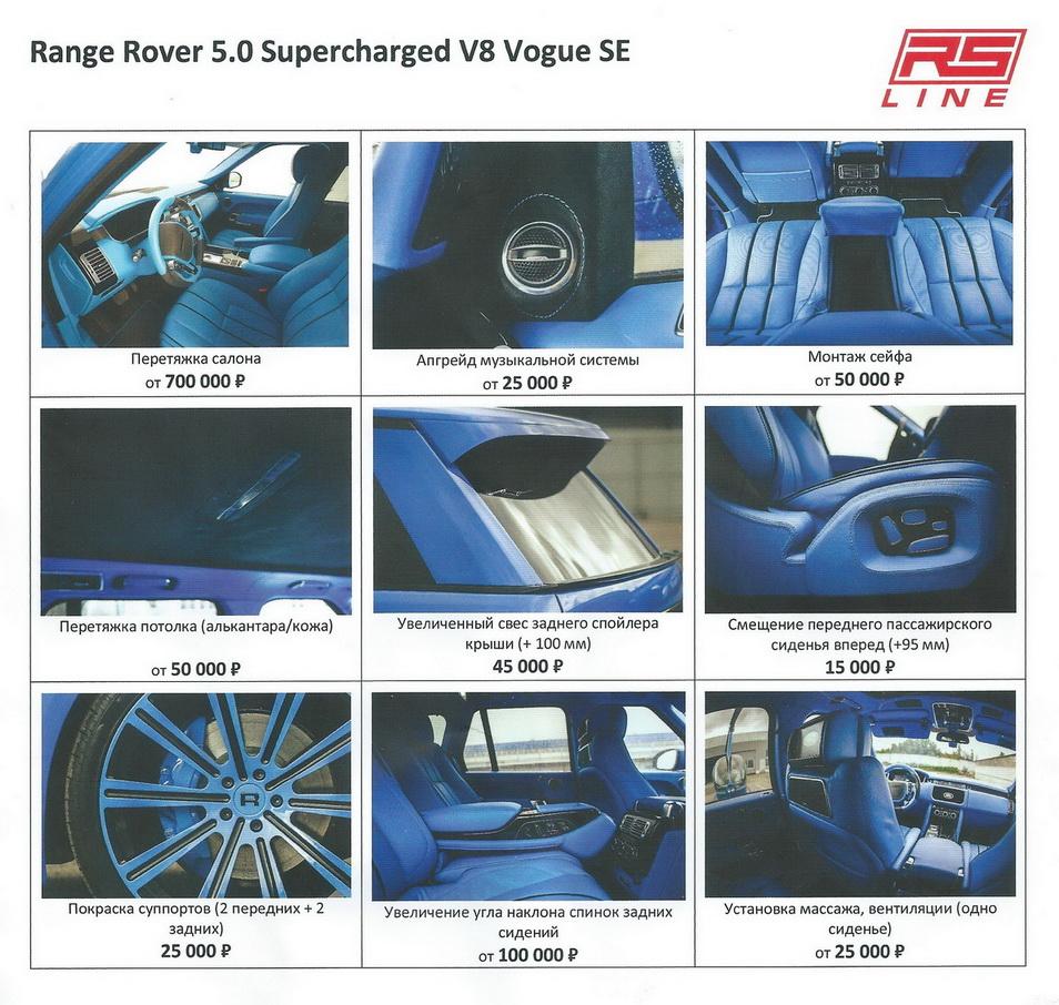 Range Rover list 2
