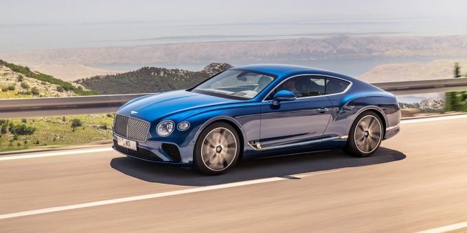 Третье поколение Bentley Continental GT появится в России в августе