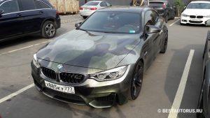 BMW с необычной винилографикой