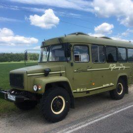 Автокемпер на основе полноприводного автобуса КАВЗ-39766.