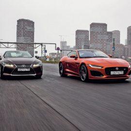 Jaguar F-Type R vs. Lexus LC 500