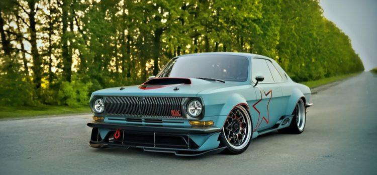 ГАЗ-24 в стиле «Muscle car» от 3D-дизайнера Сергея Баринова.